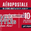 {Hot Deal Alert} $10 Off Aeropostale Coupon Through 9/30