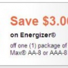 {Hot} $3.00 Off Energizer Coupon