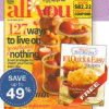 {Hot Deal Alert} Up to 67% Off All You Magazine & FREE Cookbook Through 11/13
