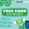 {WOW!} Free Personalized Easter Card with Free Shipping from Cardstore.com 3/26 & 3/27 - Only 50,000 Available Each Day!