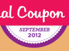 {#NCM12} September is National Coupon Month – LOTS of Events!