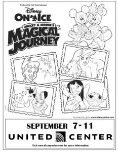 Giveaway disney on ice family 4 pack tickets ends 8 31 for Disney on ice coloring pages