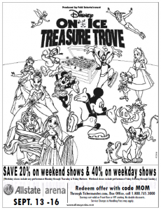 Giveaway disney on ice presents treasure trove 4 pack for Disney on ice coloring pages