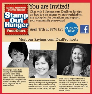 Stamp Out Hunger Facebook Chat