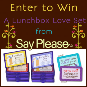 Say Please Lunchbox Love Prize Image