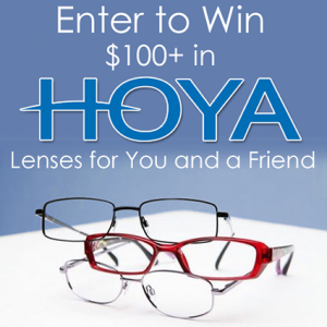 Hoya Lenses Mission Giveaway Prize