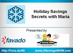 Holiday Savings Workshop