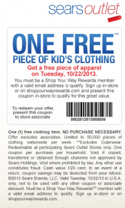 Sears Outlet Free Apparel
